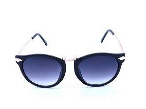 Óculos de Sol Prorider Preto com Detalhe em Dourado e Lente Degradê - CAMPeCHe