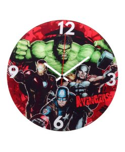 Relógio Vermelho Os Vingadores 30cm