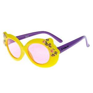 Óculos De Sol Infantil Eva Solo Amarelo Com Roxo ESOCS003