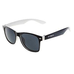 Óculos De Sol Infantil Eva Solo Quadrado Preto Com Branco