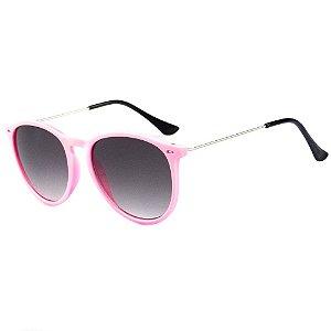 Óculos De Sol Infantil Eva Solo Redondo Rosa Claro
