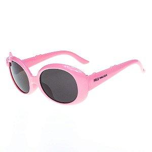 Óculos de Sol Infantil Eva Solo Rosa Claro Arredondado