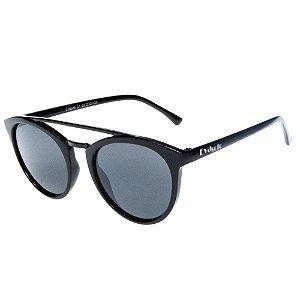 Óculos De Sol Infantil Eva Solo Preto Arredondado