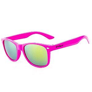 Óculos De Sol Eva Solo Quadrado Infantil Rosa Espelhado
