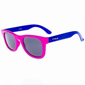 Óculos de Sol Infantil Quadrado Eva Solo Pink com Azul Escuro