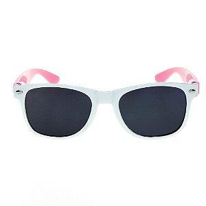 Óculos de Sol Infantil Eva Solo - Branco com Rosa Claro