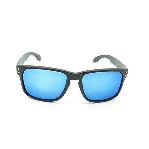 Óculos de Sol Prorider Preto Fosco com Lente Espelhada Azul - 18927
