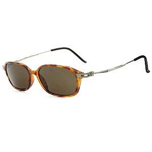 Óculos de Sol Prorider Retro em Animal Print com Detalhe Prata - 5586-03