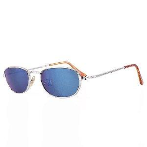 Óculos de Sol Prorider Retro Prata com Lente Espelhada Azul - ANDROS