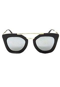 Óculos de Sol Gatinho Prorider Marrom Escuro com Dourado