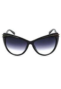 Óculos de Sol Gatinho Prorider Preto com Lente Degrade Fumê