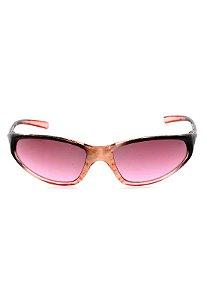 Óculos de Sol Prorider Retro Translúcido Rosa e Preto - ALASCA