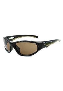 Óculos de Sol Prorider Retrô Marrom com Bege  - ABACK