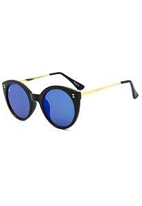 Óculos de Sol Prorider Preto Fosco com Dourado - YD1683C3