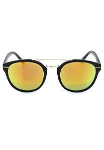Óculos de Sol Prorider Preto e Prata com Lente Espelhada - YD1676C4