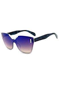 Óculos de Sol Prorider Animal Print Azulado com Lente Espelhada - B88-1347