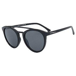 Óculos de Sol Infantil em Grilamid® TR-90 Eva Solo Redondo Preto