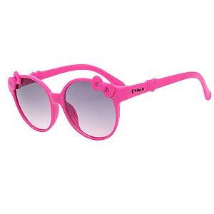 Óculos de Sol Infantil em Grilamid® TR-90 Eva Solo Redondo Pink