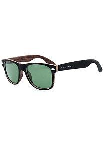 Óculos de Sol Prorider Preto Fosco com Detalhes em Madeira - RB46