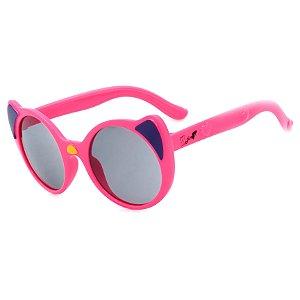 Óculos de Sol Infantil Z-JIM em Grilamid® TR-90 Gatinho Redondo Pink