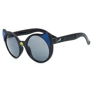Óculos de Sol Infantil Z-JIM em Grilamid® TR-90 Gatinho Redondo Preto