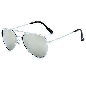 Óculos de Sol Infantil Z-JIM em Liga de Metal Aviador Prata