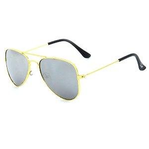 Óculos de Sol Infantil Z-JIM em Liga de Metal Aviador Dourado