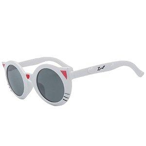 Óculos de Sol Infantil Z-JIM Redondo Gatinho Branco