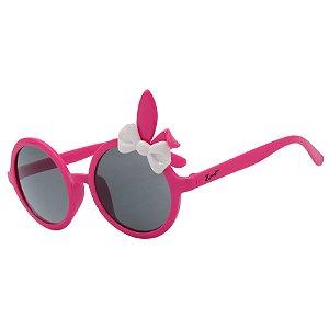 Óculos de Sol Infantil Z-JIM Redondo Coelho Rosa Laço Branco