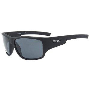 Óculos de Sol Esportivo OTTO em Grilamid® TR-90 Preto Fosco