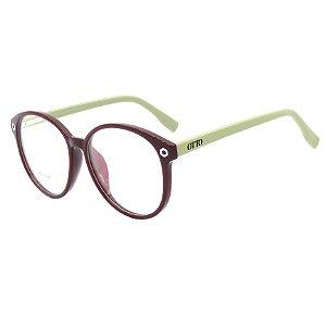 Óculos de Grau OTTO em Grilamid® TR-90 Redondo Roxo com Bege