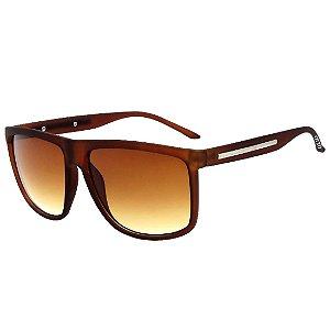 Óculos de Sol Esportivo OTTO em Grilamid® TR-90 Marrom Fosco