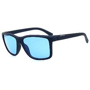 Óculos de Sol OTTO em Grilamid® TR-90 Quadrado Azul Fosco