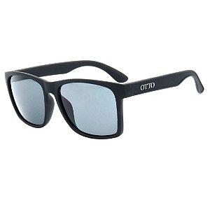 Óculos de Sol OTTO em Grilamid® TR-90 Quadrado Preto Fosco D4443-1