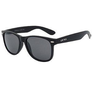 Óculos de Sol OTTO em Grilamid® TR-90 Quadrado Preto Fosco CJH72132-1