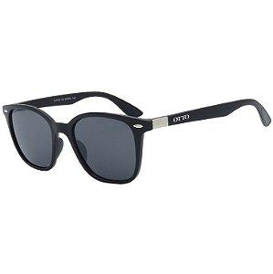 Óculos de Sol OTTO em Grilamid® TR-90 Quadrado Preto Fosco LL3103-2