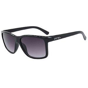 Óculos de Sol OTTO em Grilamid® TR-90 Quadrado Preto Brilho 2821-PB