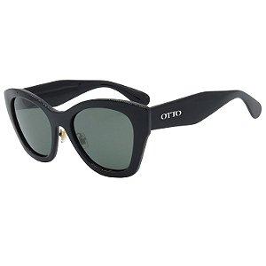 Óculos de Sol OTTO em Grilamid® TR-90 Gatinho Preto Brilho GT3268