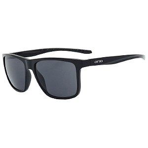 Óculos de Sol OTTO em Grilamid® TR-90 Quadrado Preto Brilho LX-6261