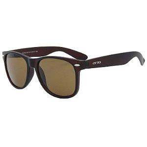 Óculos de Sol OTTO em Grilamid® TR-90 Quadrado Marrom Fosco CJH72132-4