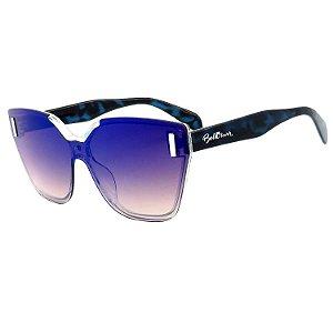 Óculos de Sol BellClover® em Grilamid® TR-90 Gatinho Estampado e Espelhado