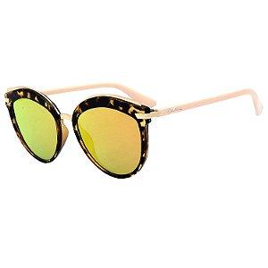 Óculos de Sol BellClover® em Grilamid® TR-90 Gatinho Onça e Espelhado