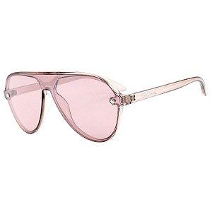Óculos de Sol BellClover® em Grilamid® TR-90 Aviador Rosa Translúcido
