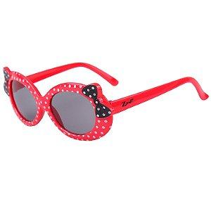 Óculos de Sol Infantil Z-JIM Redondo Vermelho Bolinha Branca