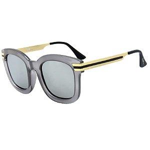Óculos de Sol BellClover em Grilamid® TR-90 Cinza Claro Translucido Lente Espelhada
