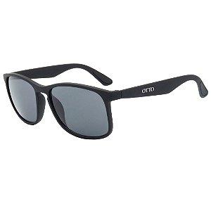 Óculos de Sol OTTO em Grilamid® TR-90 Quadrado Preto Fosco