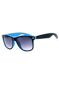 Óculos de Sol Prorider Preto e Azul Fosco com Lente Degrade - W1-65-1