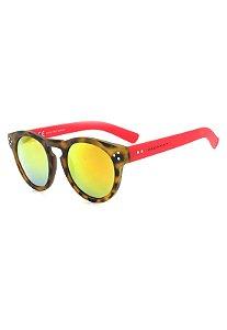 Óculos de Sol Prorider Animal Print Translúcido com Vermelho - YD1582C2