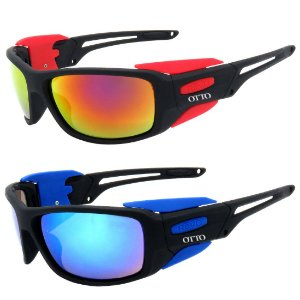 Kit de 2 Óculos de Sol Esportivo OTTO Preto Fosco com Lente Espelhada