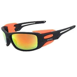 Óculos de Sol Esportivo OTTO em Grilamid® TR-90 Preto Fosco Emborrachado